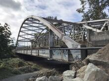Bridge over the Cowichan River. Duncan, B.C.