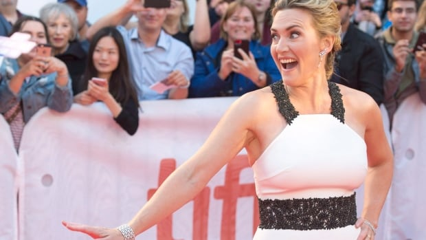 Kate Winslet arrives on the TIFF red carpet for the premiere of the film, The Mountain Between Us.