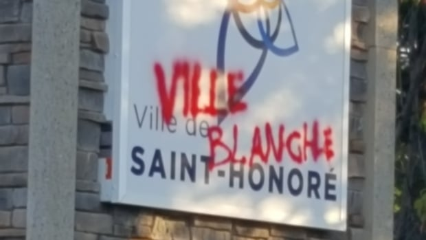 The mayor of Saint-Honoré, Que., Bruno Tremblay, says it's the fifth time xenophobic signs and vandalism have appeared in the town near Saguenay.