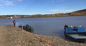 Peel River ferry people stranded