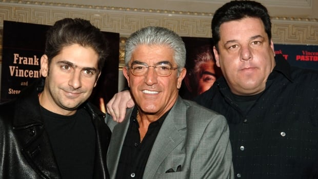 Actor Frank Vincent, middle, played mobsters in Goodfellas, Casino and on the HBO series The Sopranos.