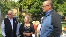 Flood tour, Windsor, Drew Dilkens, Andrea Horwath