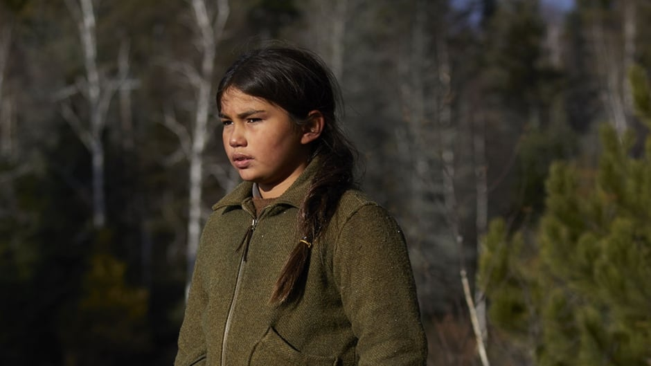 Sladen Peltier stars as a young Saul Indian Horse in the new film directed by Stephen Campanelli
