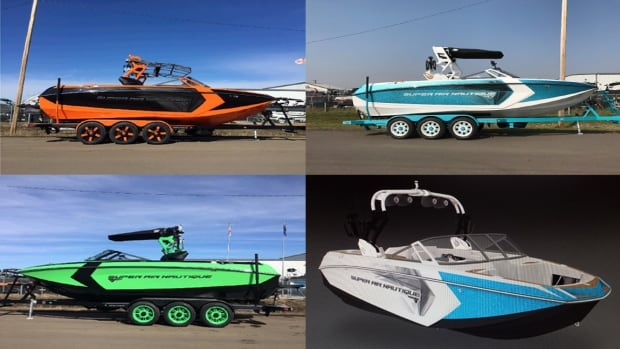 All four boats were 23-foot Nautique Super Air G23s, and with their trailers, are worth around $200,000 each.