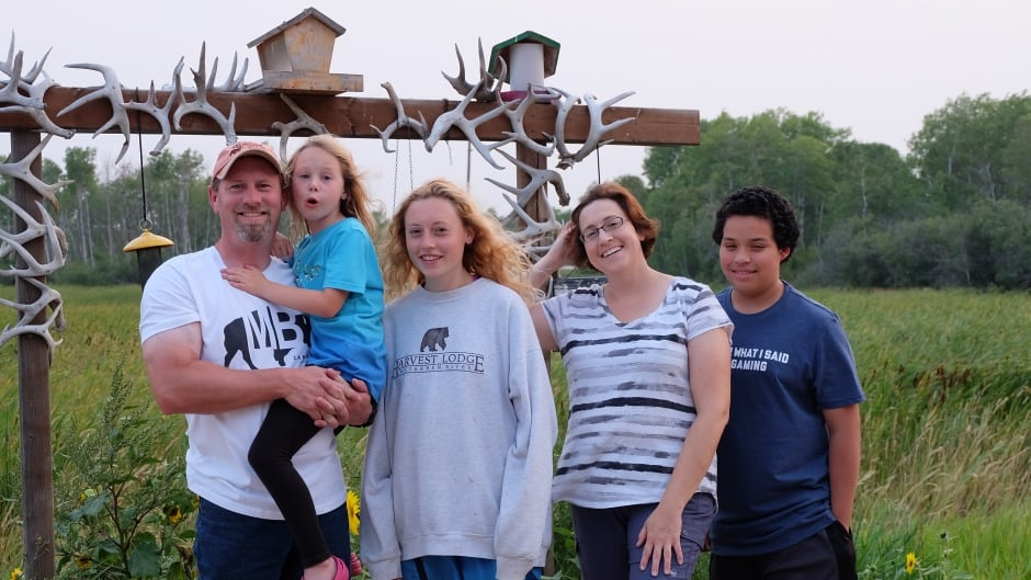 The Warkentin family at their Waterhen, Manitoba hunting lodge.