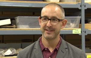 'These fossils that we find in the Yukon … have global significance. They're not just things that end up on dusty shelves,' said Yukon government paleontologist Grant Zazula. (Wayne Vallevand/CBC)