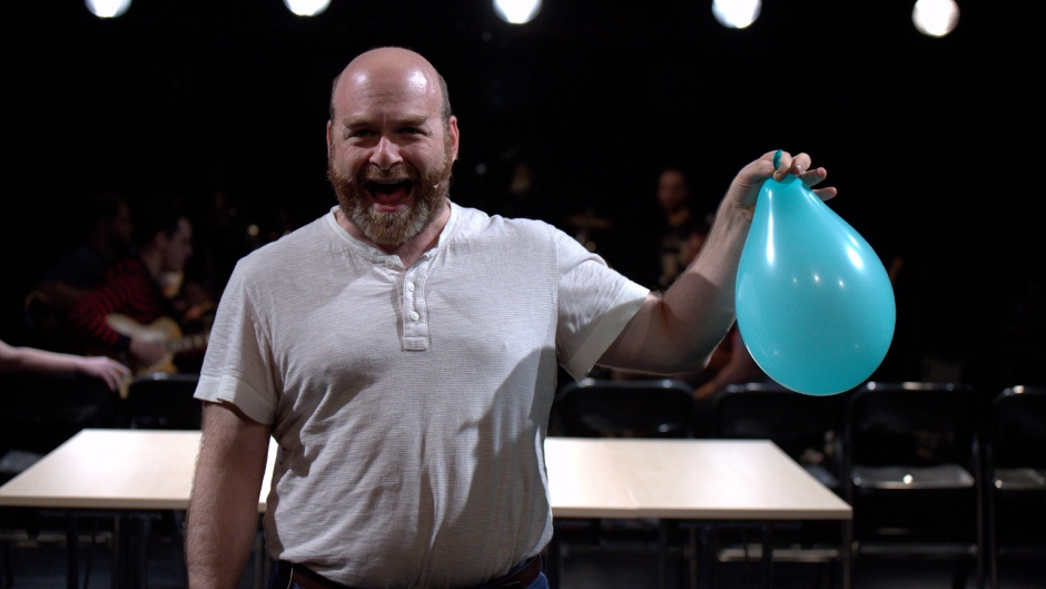 "Performer Avi Glickstein in Object Collection's opera ""It's All True."""