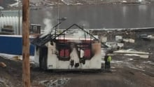 Arctic Bay building burned down