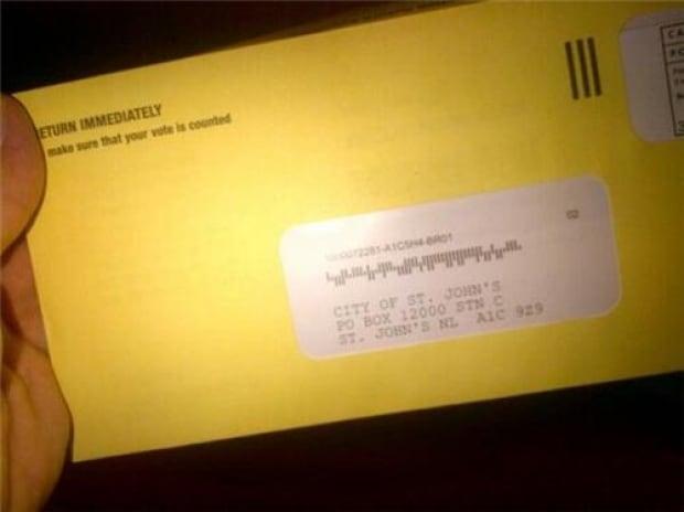 St. John's mail-in ballot