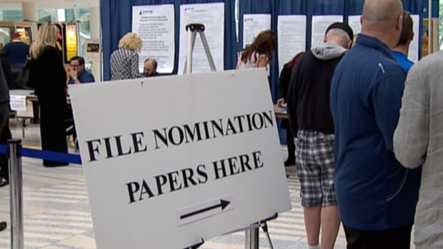 Nominations for candidates to run in the Oct. 16 municipal election close at noon on Monday.