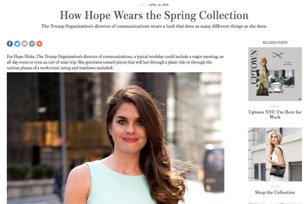 Hope Hicks Ivanka