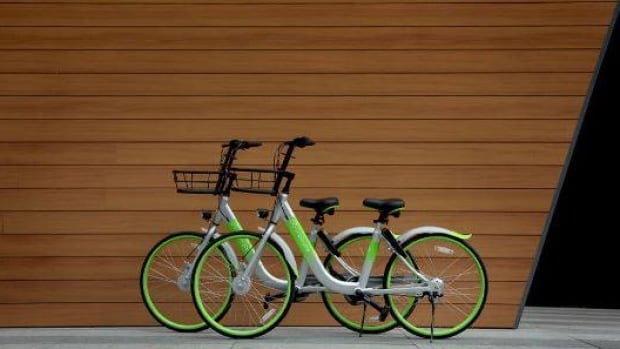 "The ""stationless bike-share"" U-bicycles have been available in Victoria since last fall."