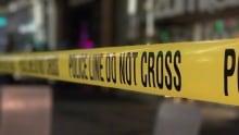 STOCK CRIME SCENE POLICE TAPE DOWNTOWN VANCOUVER GRANVILLE STREET STRIP ENTERTAINMENT DISTRICT VPD