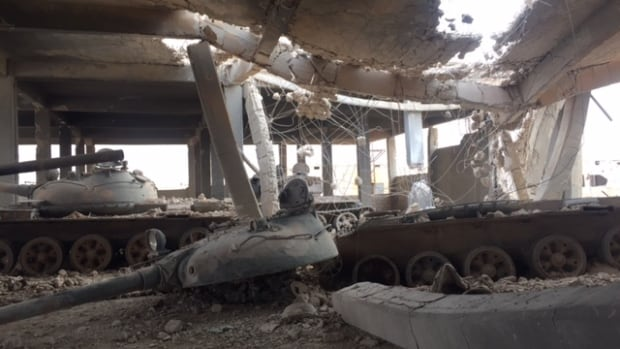 Russia claims up to 49 ISIS tanks that came from this factory were destroyed.