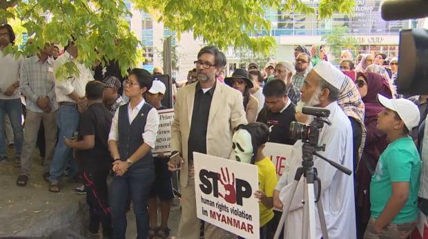 Rohingya rally