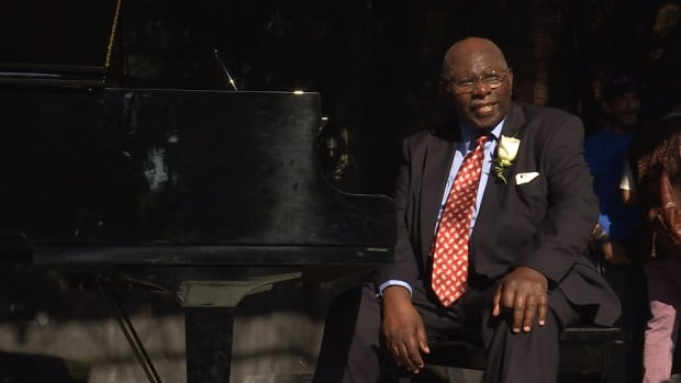 Oliver Jones performed at a concert in his home neighbourhood of Little Burgundy, Saturday, Sept. 16.