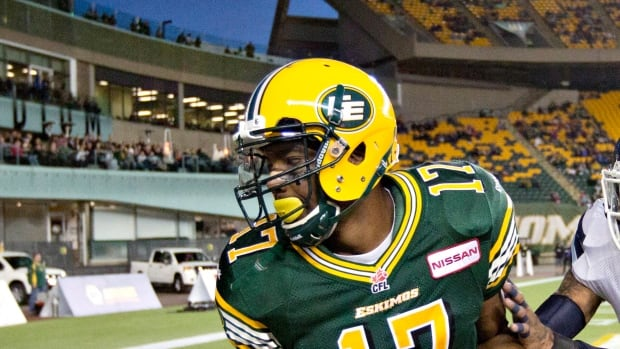 The Hamilton Tiger-Cats acquired wide receiver Shamawd Chambers from the Edmonton Esmkimos on Sunday for a pair of draft picks.
