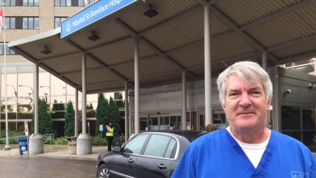 Clinton Bowman is a full-time health care aide at St. Boniface Hospital who received his letter of deletion on Thursday.