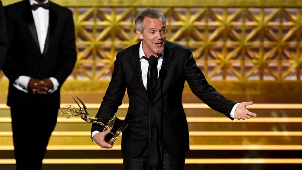 Director Jean-Marc Vallée accepts his award for Big Little Lies onstage during the 69th Annual Primetime Emmy Awards.