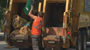 Garbage truck waste ottawa