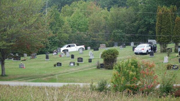 Officers found the suspect in Lockerbie Memorial Cemetery on Highway 6 in Tatamagouche, N.S.