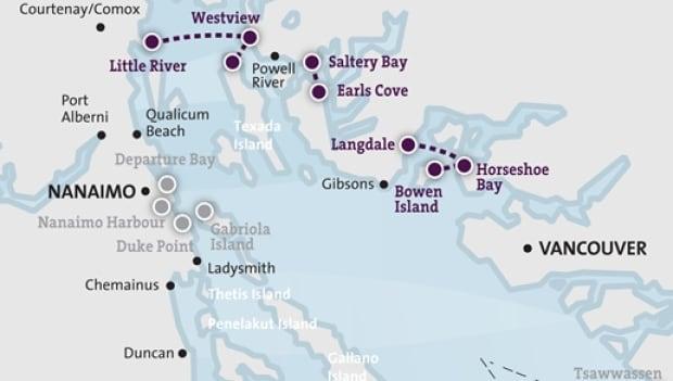 Sunshine coast route map