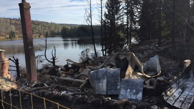 Pressy Lake home completely destroyed by the wildfire.