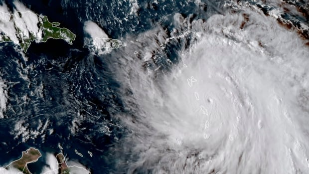 Satellite images like this one that shows the eye of Hurricane Maria as it nears Dominica Monday are critical to disaster-relief planners on the ground. Both Canadian Space Agency and NASA have been made their data available for free in keeping with the International Charter on Space and Major Disasters.