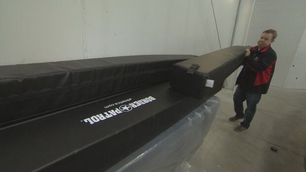 Bumpers used for cross ice hockey