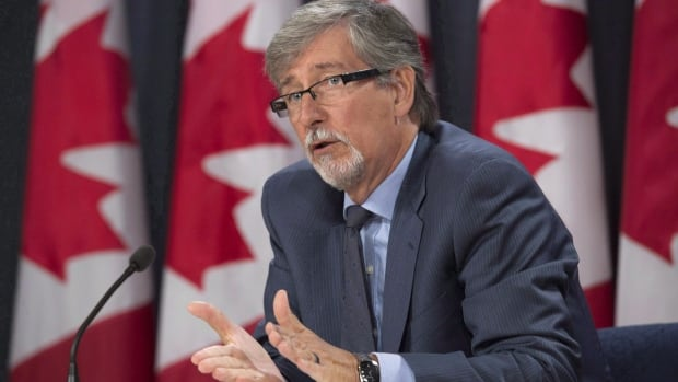 Canada's privacy commissioner, Daniel Therrien, shown in September 2016, told MPs Monday that he's concerned about U.S. border agents searching electronic devices.