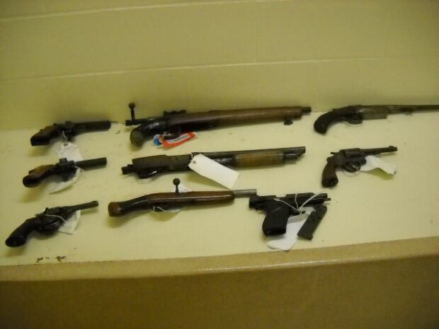 Seized firearms
