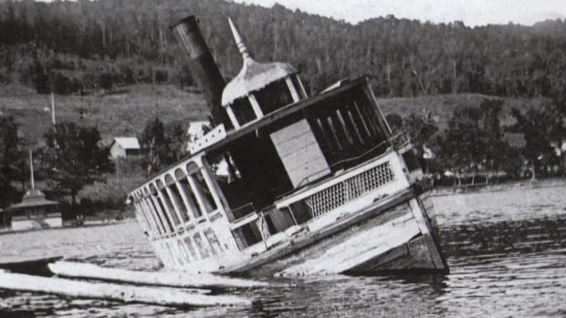 The Mayflower sank in Lake Massawippi in 1894.