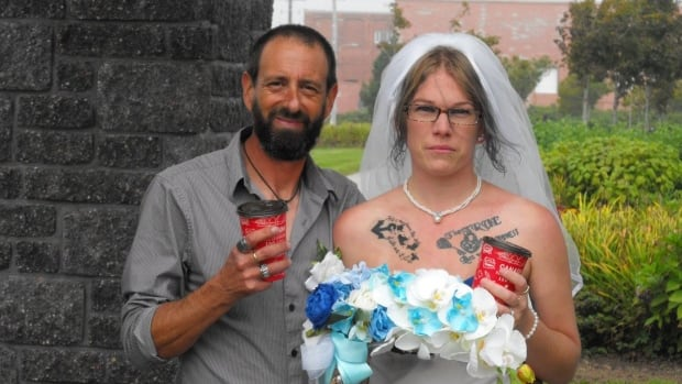 Tom and Meranda Robicheau had their first date at a Yarmouth Tim Hortons two years ago.