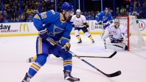 Blues' Sanford, Bouwmeester injured during training camp