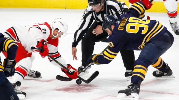 """Hockey fans have noticed the NHL's crackdown on faceoff violations in the pre-season, what Montreal centre Peter Holland calls a """"game within the game."""""""