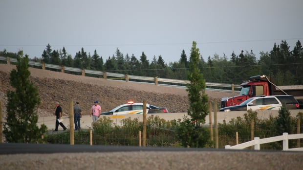 Cape Breton police don't suspect foul play in the death of a 27-year-old man who died after falling off a Highway 125 overpass last Thursday.