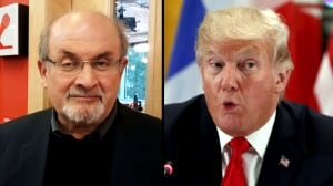 Donald Trump a 'three-card monte man, con artist,' says author Salman Rushdie