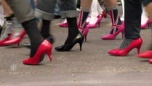 Calgarians Walk a Mile in Her Shoes to help stop domestic violence