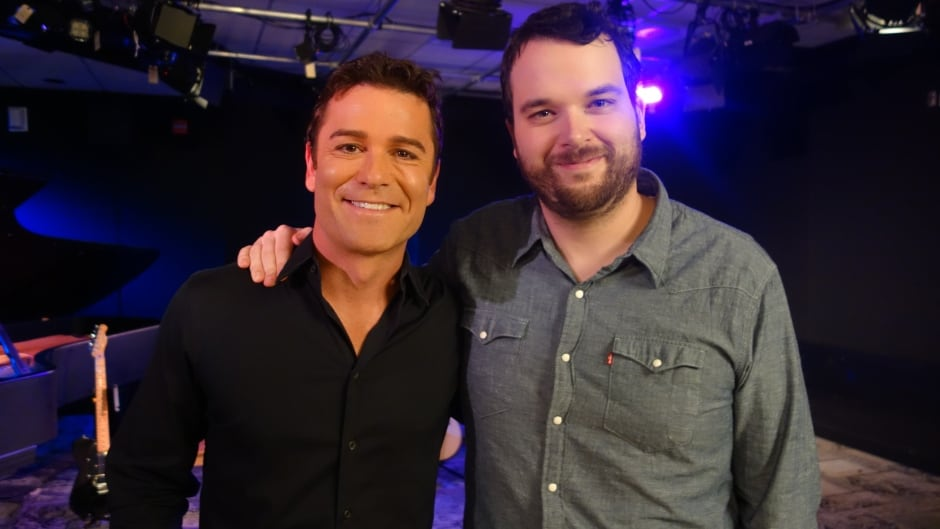 Murdoch Mysteries star Yannick Bisson and Tom Power in the q studios in Toronto, Ont.