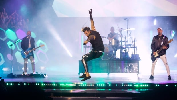 Hedley performs during the Much Music Video Awards in Toronto on Sunday, June 19, 2016.