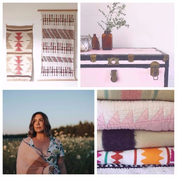 Katharine MacDonald collage with vintage items