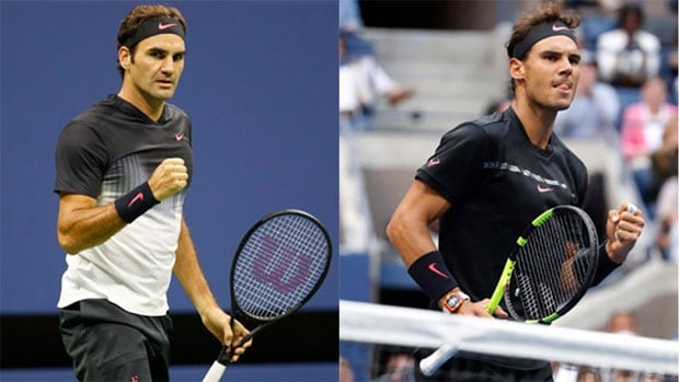 Roger Federer, left, and Rafael Nadal are excited about the possibility of playing as doubles partners at the Laver Cup which begins on Friday in Prague, Czech Republic.