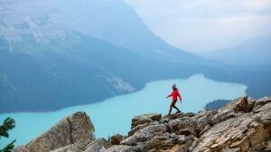 Woman Hiking in Banff