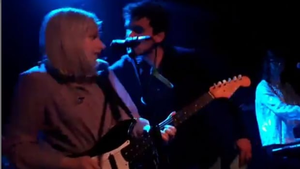 Alvvways frontwoman Molly Rankin was left stunned during a show last weekend in Antwerp when a male fan bolted onstage and attempted to kiss her.