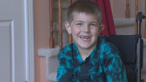 Carter Churchill is six years old and non-verbal. He communicates through American Sign Language.
