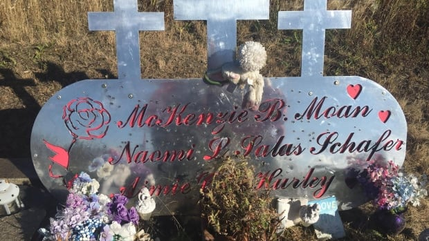 The roadside memorial was erected after a 2013 collision claimed the lives of six Saskatchewan teenagers.