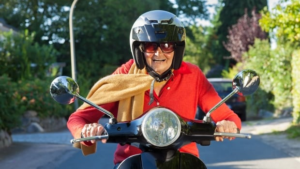 'Once you're over the hill, you start to pick up speed,' says an advertisement for The Village at St. Elizabeth Mills in Hamilton. Images of active seniors promote sales of its theme-park retirement residences.