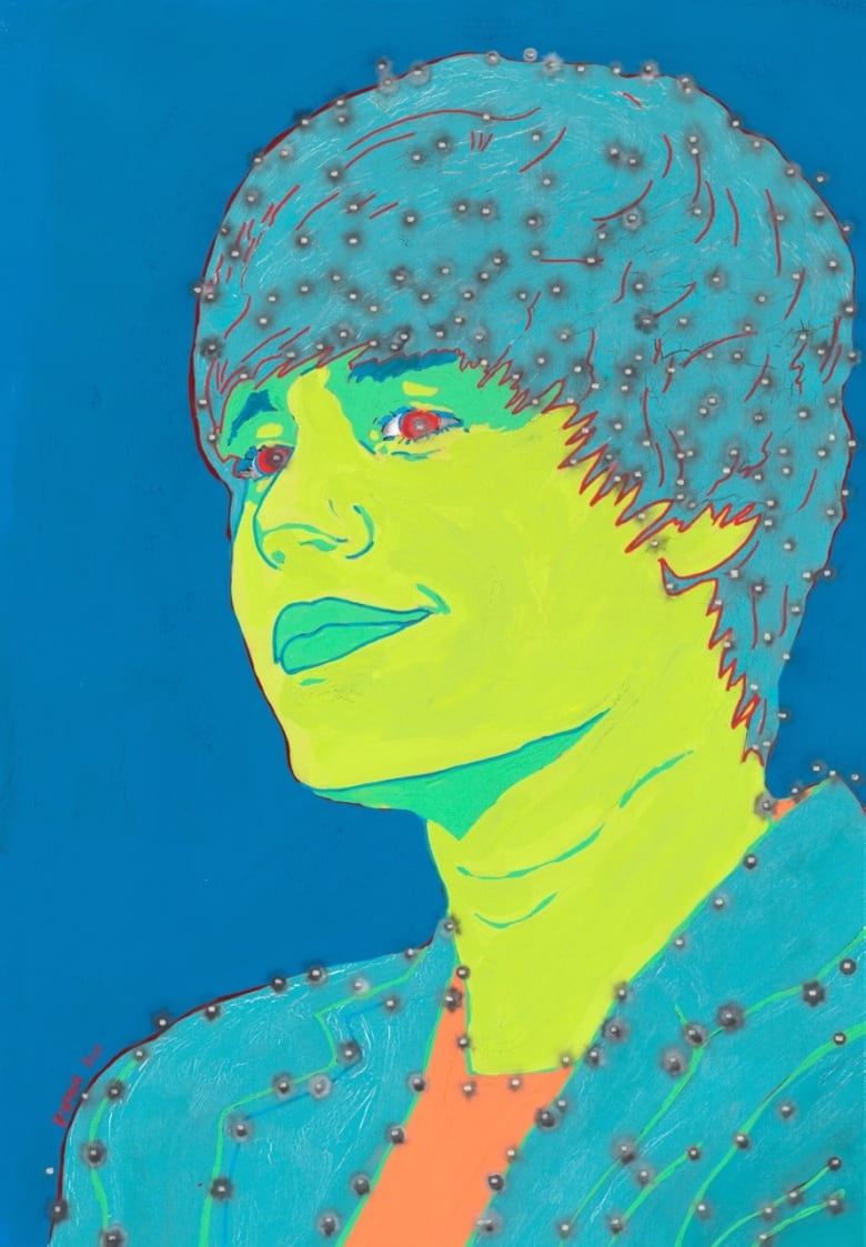 negozio online scarpe temperamento 100% di alta qualità Artist of stolen $18K bullet-riddled Bieber painting says ...