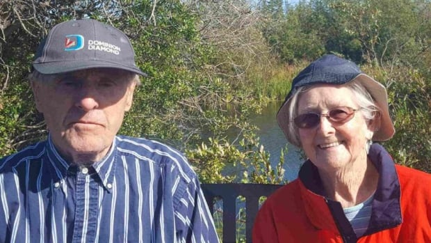 Norm Mair and Edith Mair go for daily walks on the Niven Lake Trail in Yellowknife.
