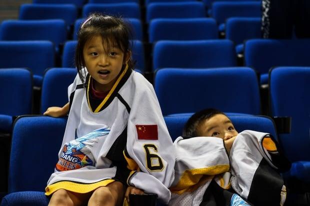 Young Shanghai hockey fans